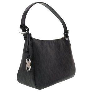 Michael Kors Black Signature Jet Set Shoulder Bag